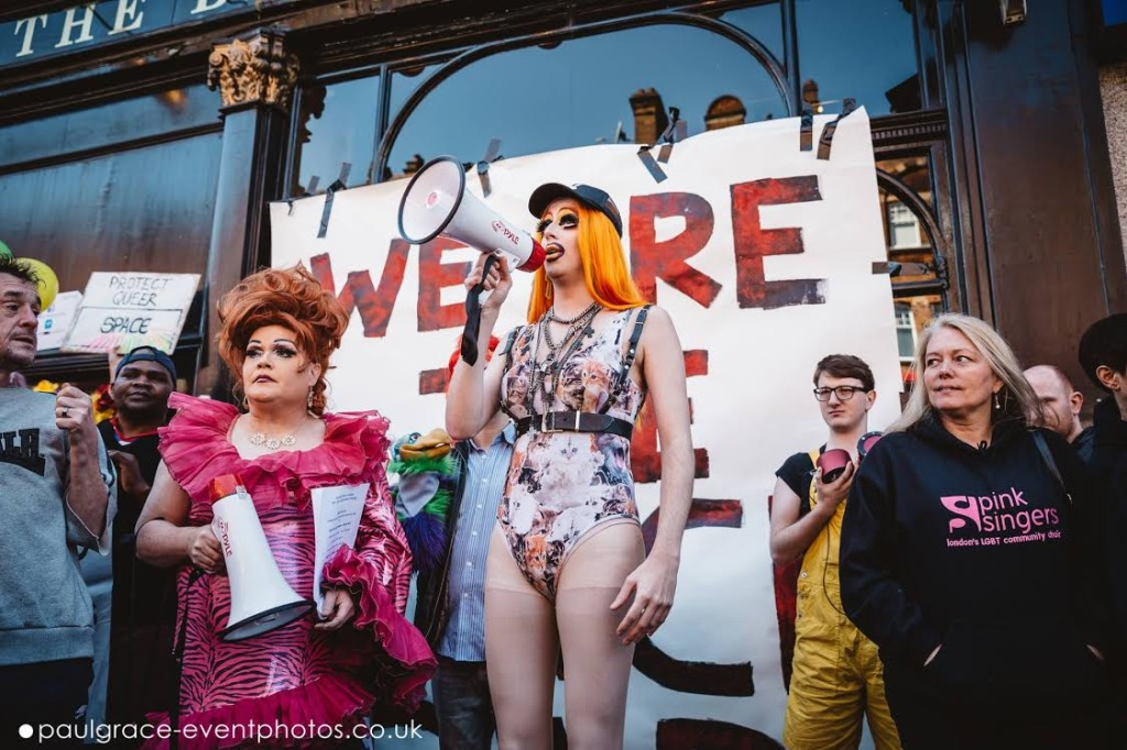 Meth and co. protesting the loss of the Black Cap (photo by Paul Grace Photography)