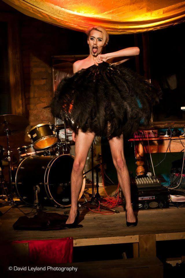 Mr. Mistress performing Burlesque in 2012 (Photo by David Leyland Photography)